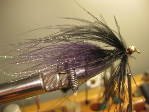 Tie in some black estaz, add a bit more flash, then palmer more marabou